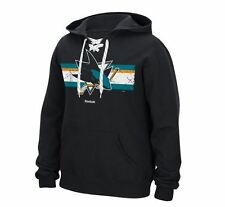 San Jose Sharks MENS Sweatshirt Pullover Hoodie Honor Code by Reebok