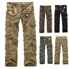 CHEAP!!! Top Design Casual Mens Cotton Military Cargo Combat Pants Long Trousers