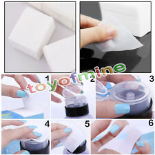 200/400x UV Gel Nail Polish Gelish Shellac Remover Cleaner Wipes Cotton Pad Lint