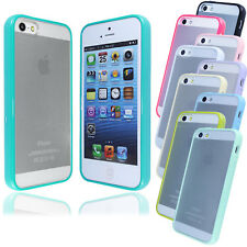 New Glossy Transparent Bumper Case Cover FOR iPhone 5S 5G