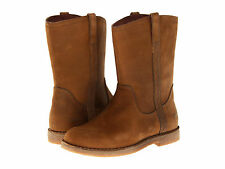 Kids UGG Australia Blane Boot 1002069 Chocolate Leather 100% Authentic Brand New