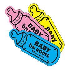 Baby Bottle on Route Magnet  Baby on Board Car Window Sign