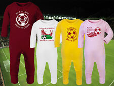 NORTHAMPTON TOWN Football Baby Romper Suit Sleep Personalised Cute Gift-Any team