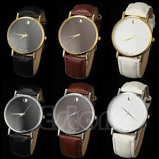 Stylish Men Women Geneva Stunning Faux Leather Band Casual Classic Wrist Watch
