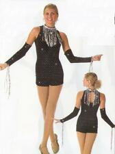 SHIMMY Biketard WITH Mitts Baton Jazz Tap HipHop Acro Dance Costume Adult Small
