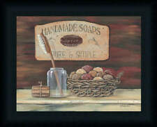 Handmade Soaps Pam Britton Country Bath Room Framed Art Print Wall Décor Picture