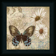 Butterfly Garden I Boho Chic Butterfly Framed Art Print Wall Décor Picture