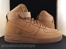 Nike Air Force 1 Mid Wheat Flax 715889-200 Size 8-13 LIMITED 100% Authentic