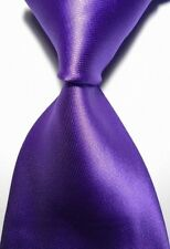 Mens Plain Solid SILK Skinny Necktie Fashion Wedding Party Neck Tie Light Purple