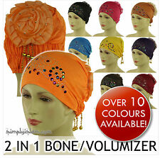 Islamic Muslim Ladies / Girls Bone Hijab Cap Khaleeji Scrunchie Volumizer