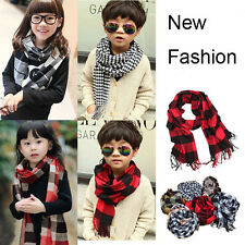 Fashion Kid Boy Girl Casual Classic Plaids & Striped Shawl Wraps Warm Neck Scarf