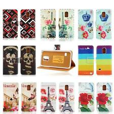 flip magnetic pu leather card holder case cover pouch for samsung galaxy s5 mini