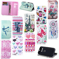 New Pretty Patterned Card Hold Flip Leather Wallet Stand Soft Rubber Case Cover
