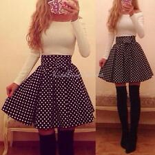 Women Sexy Long Sleeve Bodycon White Dot Skirt Suit Cocktail Party Mini Dress