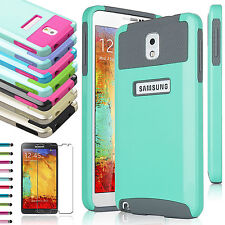 Hybrid Rugged Impact Hard Rubber Case Cover For Samsung Galaxy Note 3 III N9000