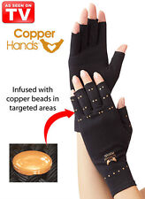 COPPER HANDS THERAPEUTIC COMPRESSION GLOVES - ARTHRITIS RELIEF - As Seen On TV