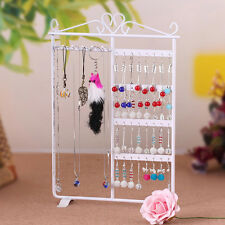 Metal Jewelry Rack Stud Earring Bracelet Necklace Display Stand Organizer Holder