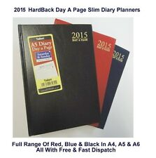 2015 Diary Day A Page Hardback Planner Organiser Agenda Colours A4 A5 A6