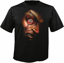 Digital Dudz Frantically Moving Eyeball Safety-Pinned T-Shirt Black