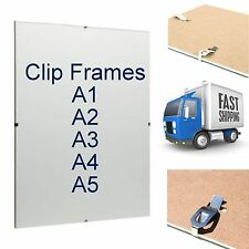 Clip Frames Picture Photo Award Certificate Poster Framing Acrylic Home Office