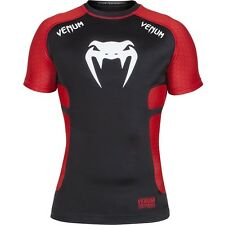 Venum Absolute Short Sleeve Rashguard (Black/Red) - mma bjj ufc