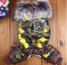 2015 Camo Dog Clothing Jacket Wear Cotton Autumn And Winter  Warm Clothes Coats