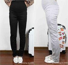 Women's Clothes Maternity Pregnancy Slim Solid Casual Trousers Belly Care Pants