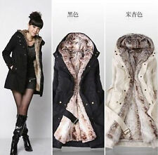 Hot Fashion Women Coat Thicken Warm Winter Coat Hoodie Parka Overcoat Jacket