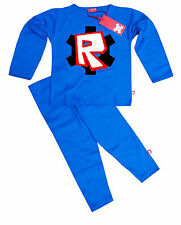 NEW STARDUST KIDS CHILDRENS BOYS GIRLS: ROBLOX PYJAMAS (RD/BK)