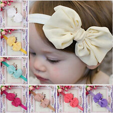 Baby Kids Toddler Cute Chiffon Headbands Bow Flower Head Skinny Band Hairband