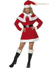 Ladies Miss Santa Mrs Claus Costume Christmas Xmas Womens Fancy Dress Party