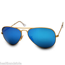 Ray Ban RB3025 112/17 Aviator Gold Frame/Blue Mirror Lens Sizes 55 & 58