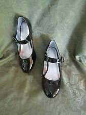 Nine West Youth Girl Girls Fireflies Shiny Black Patent Dress Shoe Heel Shoes 5