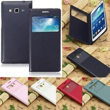 Smart View Window Flip Leahter Case Cover For Samsung Galaxy Grand 2 G7102 G7105