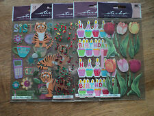 EK SUCCESS STICKO STICKERS LOTS TO CHOOSE FROM COCKTAILS BUBBLES TREES BNIP