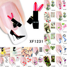 Hot Sale Nail Art Decals Half Wraps French Manicure Water Transfer Sticker Decor