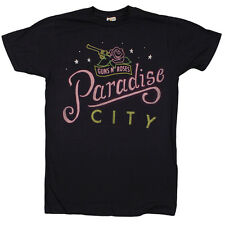 Guns N Roses - Paradise City Hand Sketched - fitted navy t-shirt - Official Merc