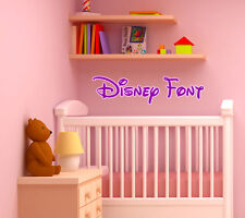 DISNEY Font Vinyl Decal Wall Sticker Children's Baby Kids Room YOUR NAME TEXT