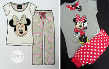 PRIMARK Ladies DISNEY MINNIE MOUSE Pyjamas Lounge Pants & T Shirt PJ GIFT SET