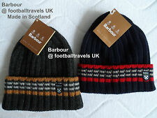 BARBOUR LAMBSWOOL NAVY or CHARCOAL BEANIE TUQUE CRATHES SCOTLAND Mens UNISEX TAG
