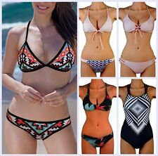 Women Hot Sexy Bandage Push Up Triangle Swimwear Bikini Set Top Bottom Swimsuit