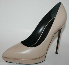 $825 YSL Yves Saint Laurent JANIS 105 Pumps Platforms Shoes Heels