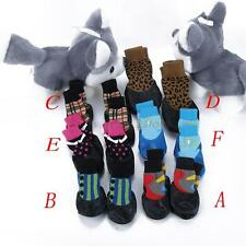 4Pcs Pet Small &Medium Dog Waterproof Rain Shoes Non-slip Rubber Boots Socks A10