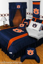 Auburn Tigers Comforter Sheet Set & Valance Twin to King Size Sidelines