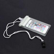 UNIVERSAL WHITE WATERPROOF HOLIDAY POUCH CASE COVER FOR SMARTPHONE OR PHABLET