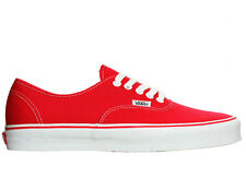 VANS AUTHENTIC RED NEW IN BOX MENS / WOMENS CASUAL SHOES