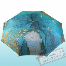 JAPAN ELEPHANT CLAN  AUTO OPEN & CLOSE UV-COATING WORLD MAP UMBRELLA 99885
