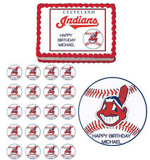 Cleveland Indians Edible Birthday Cake Cupcake Toppers Party Decorations Images