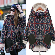 women Cotton Padded Clothes Loose size Coat Winter Thicken Outwear Fashion Hood