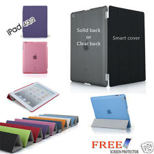 Smart Cover and Hard Back Case for Apple iPad 4 3 2